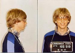 Foto segnaletica di Bill Gates